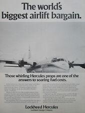 9/1977 PUB LOCKHEED L-100-30 HERCULES AIRLIFTER MONEY FUEL SAVER ORIGINAL AD