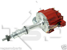 Ford 352 390 406 427 428 big block polished aluminum  distributor HEI v8 FE red