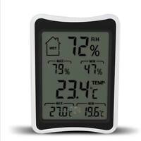 Digital Wireless Indoor Thermometer Hygrometer Humidity Monitor with LCD Display