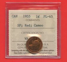 1955 SF Canada 1 Cent Coin ICCS Graded PL65 Certification # WA 437