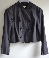 ~ WITCHERY ~ Womens Charcoal Stylish Cotton Crop Jacket ~ Sz 10
