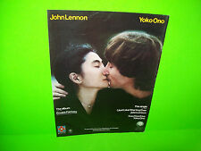 John Lennon Yoko Ono Double Fantasy Vintage 1980 Original LP Color Advertising