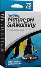 1x Seachem MultiTest Marine Ph & Alkalinity Test Kit