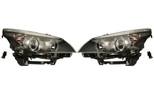 Pair Set of Left & Right Genuine Halogen Headlights Lamps for BMW E60 5-Series