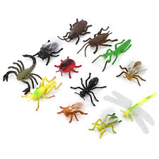 12× Plastic Insect Toys 3-5cm Mini Long Flying Bug Spider Wasp Ladybird Ant  uk
