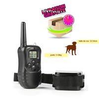 Collier de dressage électrique chien rechargeable étanche télécommandé sans fil