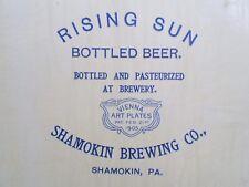 1905 RISING SUN Beer Tray Vienna Art Plate Shamokin Brewing Co., SHAMOKIN,PA