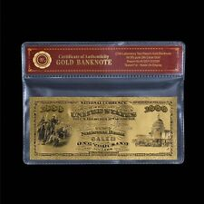 WR 1875 First National Bank $1000 Dollars Gold US Banknote Bill for Collection