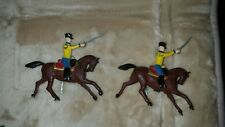 2 Vintage Lead Toy Soldiers on horse w/moving arm