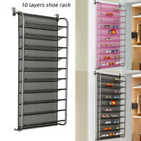 Hanging Shoes Organizer Over Door For 36 Pairs Shoe Rack Closet Space Saving New