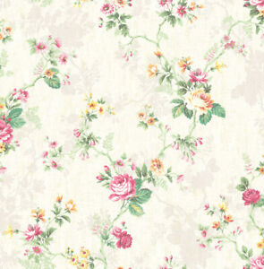 "Wallpaper Floral Trail Traditional Wall Decor -20.5"" x 396"" Roll (56 sq ft)"