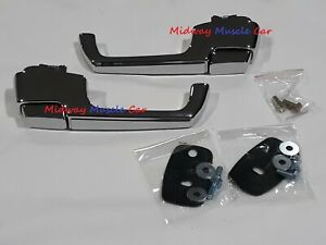 outside door handle complete kit (pr) 67-72 Chevy GMC Pickup Truck Blazer C10