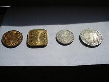 Suriname (4) Coin Set 1-5-10-25 Cents Km 11 Km12 Km 13 Km14
