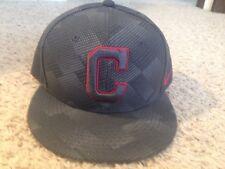 Cleveland Indians MLB Nike Gray Digital Print Red Snapback Hat