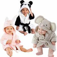 Hooded Baby Infant Cotton Bath Towel Bathrobe Girl Boy Cute Mouse Panda Bunny