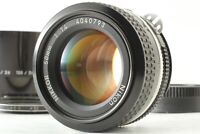[EXC+5] Nikon Ai Nikkor 50mm f/1.4 MF Standard Lens w/ Hood Filter From JAPAN