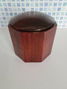 Vintage Wooden Octagonal Storage Box