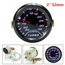 "Universal  ABS Plastic+Aluminum Ring 2""/ 52mm Car LED Psi Turbo Boost Gauge Kit"