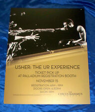 Usher: The UR Experience Tour November 15 2014 Caesars Atlantic City Sign Poster