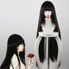 Jigoku Shoujo Hell girl Enma Ai Cosplay Kostüm Costume Schwarz black Perücke wig