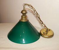 antique green case glass brass electric ceiling fixture chandelier fixture .