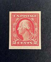 US Stamp, Scott #482 1916 2c Type I XF M/NH. Balanced margins, vivid carmine