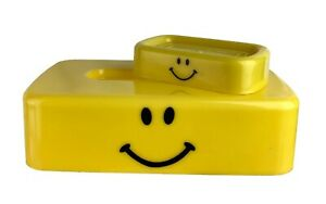Classic Yellow Smiley Face Bathroom Vanity Set Tissue Box Cover Soap Dish