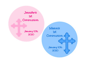 First communion, baptism Stickers, labels, tags, envelope seals, personalized
