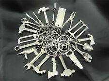 12PCS/LOT Creative Good Tool Wrench Spanner KeyChain mini Keyring Metal Keychain