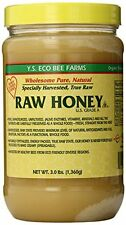 NEW YS Eco Bee Farms RAW HONEY  Raw Unfiltered Unpasteurized  Kosher 3lbs