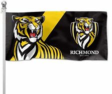 Richmond Tigers AFL Pole Flag 1800mm by 900mm BNIP Cape