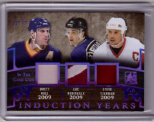 BRETT HULL LUC ROBITAILLE STEVE YZERMAN 17/18 Leaf In The Game-Used Patch #d /12