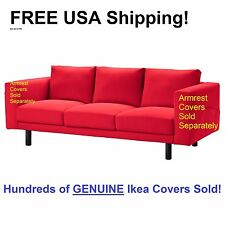 Ikea NORSBORG 3 Seat Sofa Section Cover Slipcover FINNSTA RED NEW! Sealed!