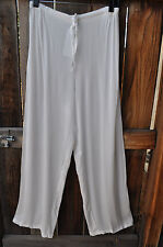 ART TO WEAR 4 PANT IN CLASSIC SOLID WHITE BY MISSION CANYON,ONE SIZE, NWT!,