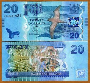 FIJI, 20 dollars, 2012 (2013), P-New,  UNC > New Design, latest colorful issue