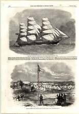1862 Volunteer Camp Ascot Heath Iron Clipper Ship Cornwallis Blackball Line