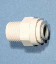 "1/8 Bsp x 1/4"" Push in Stud Fitting Plastic Imperial pipe /Tubing, Food Grade"