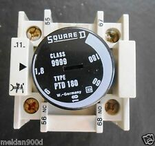 1 USED SQUARE D PTD180 PNEUMATIC TIMER MODULE * SHIPS FREE WITH BUY IT NOW *