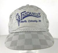Vtg Fandangles North Conway New Hampshire Baseball Hat Ball Cap 90s Gray