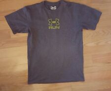 Men's Size Small Gray Under Armour Heat Gear Short Sleeve Shirt