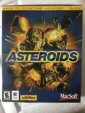 ASTEROIDS Game MacSoft MAC Macintosh CD ROM, CD Case, Booklet