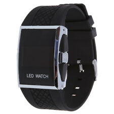 New Durable Black Luxury Digital Mens Red LED Light Sport Wrist Watch Gift Y8A1