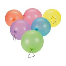 """Lot of 12 Neon Punch Ball Balloons Party Favors 10"""""""