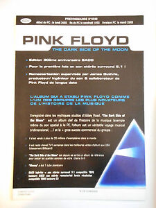 ▓ PLAN MEDIA 4 PAGES ▓ PINK FLOYD : THE DARK SIDE OF THE MOON