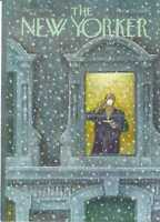COVER ONLY ~The New Yorker magazine~ January 12 1976 ~ SAXON ~ Man sips coffee