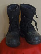 Women's L. L. Bean Bigelow Black with Liner Winter Boots Sz 4