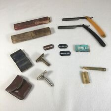 Vintage Razor Lot With Old Blades And Cases Mixed Lot Last One For Parts