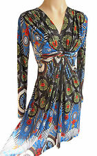 UK size 12 long sleeve Stretch dress in multicoloured jersey fabric FILIP I LEO