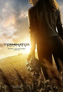 Terminator Genisys Double Sided ORIGINAL MOVIE Film POSTER One Sheet Endoskull