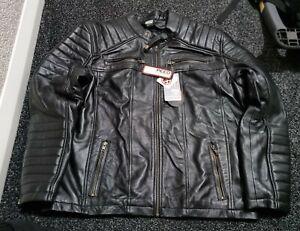 Mens Leather Casual Biker Jacket Coat Soft Motorcycle Genuine Biker Style Fit